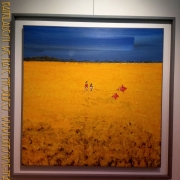 Syed Jahangir - Kite flying in mustard field